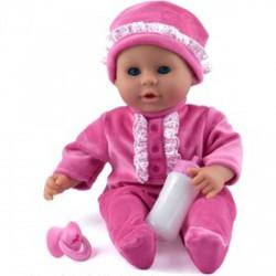 Little Treasure babzsákos baba - 38 cm, pink - Dolls World babák - Dolls World babák Dolls World