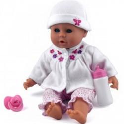 Little Treasure babzsákos baba fehér ruhában - 38 cm - Dolls World babák - Dolls World babák Dolls World