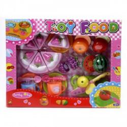 Konyhakészlet vágható ételekkel 25 darabos készlet - Lányos játékok - Bébijátékok