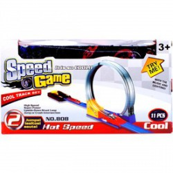 Speed Game halálkanyar 11 darabos autóverseny pálya AUTÓPÁLYÁK-MODELLVASÚT