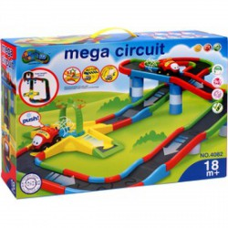 Mega Circuit műanyag autópálya hanggal AUTÓPÁLYÁK-MODELLVASÚT