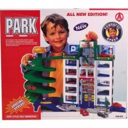 5 emeletes, műanyag parkolóház, lifttel és spirál lehajtóval - Pályák, kisautók - Pályák, kisautók
