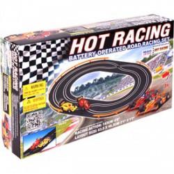 Hot Racing elemes autópálya, versenypálya - 143 cm - Pályák, kisautók - Pályák, kisautók