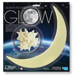 4M sötétben világító Hold és csillagok készlet - Tudomány és kreatív játék - KIDZ Labz játékok
