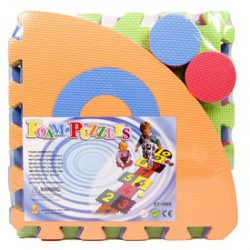 Ugróiskola habszivacs 10 darabos szőnyeg puzzle - Kerti és vízes játékok - Kerti és vízes játékok