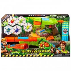 Bogártámadás - duplacsövű fegyver és gyorstüzelő szett Xshot - Játék fegyverek