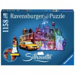 Ravensburger - Puzzle sziluett 1158 db - New York - RAVENSBURGER játékok - Kirakók, puzzle-ok