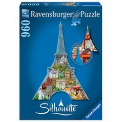Ravensburger - Puzzle sziluett 960 darabos - Eiffel torony - RAVENSBURGER játékok - Kirakók, puzzle-ok