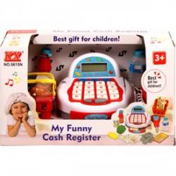 Elemes pénztárgép - piros-fehér 31037 - Lányos játékok - Lányos játékok