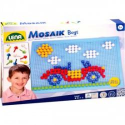 Lena - Mozaik 200 darabos képkirakó fiúknak - 10 mm - Lena golyófuttató, pötyi, műanyag játékok - Lena golyófuttató, pötyi, műanyag játékok