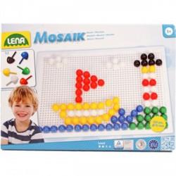 Lena - Mozaik 120 darabos képkirakó - 15 mm, színes - Lena golyófuttató, pötyi, műanyag játékok - Lena golyófuttató, pötyi, műanyag játékok