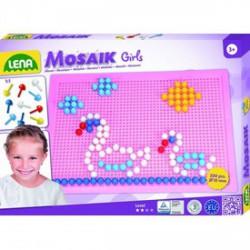 Lena - Mozaik 200 darabos képkirakó lányoknak - 10 mm - Lena golyófuttató, pötyi, műanyag játékok - Lena golyófuttató, pötyi, műanyag játékok