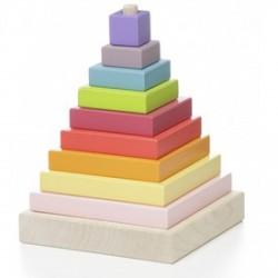 Piramis 10 darabos fa építőjáték - Logikai fajátékok - Fajátékok