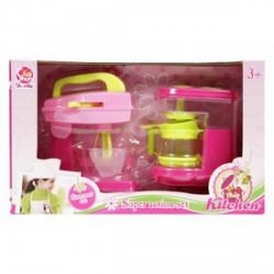 Konyhai keverőgép és kávéfőző - rózsaszín - Lányos játékok - Lányos játékok