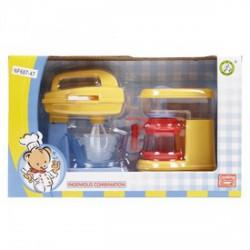 Konyhai keverőgép és kávéfőző - sárga - Lányos játékok - Lányos játékok