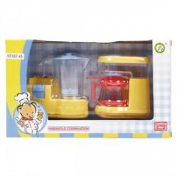 Konyhai turmixgép és kávéfőző - sárga - Lányos játékok - Lányos játékok