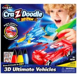 Cra-Z-Doodle Határtalan Fantázia sztorim 3D toll - járművek - Cra-Z-Knitz kreatív játékok - Cra-Z-Knitz kreatív játékok Cra-Z-Doodle