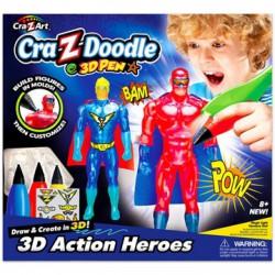 Cra-Z-Doodle Határtalan Fantázia sztorim 3D toll - szuperhősök - Cra-Z-Knitz kreatív játékok - Cra-Z-Knitz kreatív játékok Cra-Z-Doodle