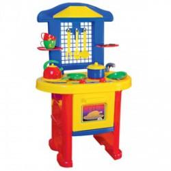 Játékkonyha - piros-kék - Lányos játékok - Konyhák