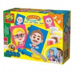 SES - Arcok gyurmakészlet - SES Kreatív játékok - SES kreatív játékok