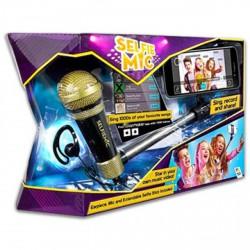 Selfie mic mikrofon szelfie bottal - arany-fekete - Játék hangszerek - Játék hangszerek Selfie Mic
