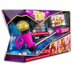 Selfie mic mikrofon szelfie bottal - rózsaszín - Játék hangszerek - Játék hangszerek Selfie Mic