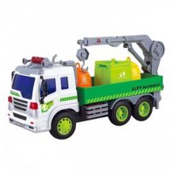 Szelektív hulladékgyűjtő platós kukásautó fénnyel és hanggal 1:16 - Bébijátékok - Bébijátékok