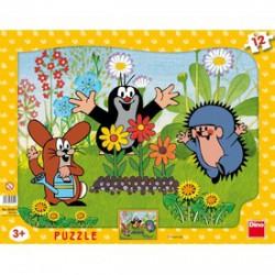DINO - Kisvakond kertészkedik 12 darabos puzzle DINO PUZZLE, TÁRSASJÁTÉKOK