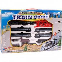 Train Orbit nagy modellvasút készlet gőzmozdonnyal AUTÓPÁLYÁK-MODELLVASÚT