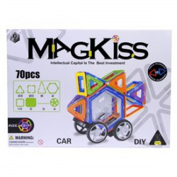 MagKiss 70 darabos mágneses építőjáték - Építőjátékok - Építőjátékok