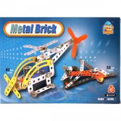 Repülőgép 108 darabos fém építőjáték ÉPÍTŐJÁTÉKOK