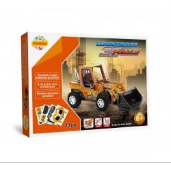 Lendkerekes 3D puzzle - nagy markoló - PUZZLE játékok - Kirakók, puzzle-ok