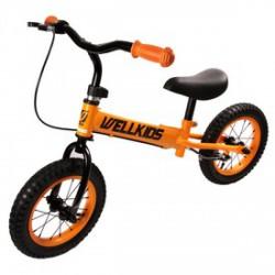 Fém futóbicikli fékkel - narancssárga-fekete BRINGÁK - Járművek