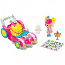Barbie Videojáték kaland - Barbie rózsaszín versenyautója - Barbie babák - Barbie babák Barbie