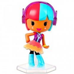 Barbie Videojáték kaland - piros-kék hajú minifigura fülhallgatóval - Barbie babák - Barbie babák