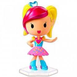 Barbie Videojáték kaland - rózsaszín szoknyás minifigura szívecskés pólóban - Barbie babák - Barbie babák