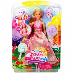 Barbie Dreamtopia - fehér bőrű hajvarázs hercegnő - Barbie babák - Barbie babák