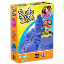 Sands Alive kezdő készlet - kék - Moon sand gyurmák