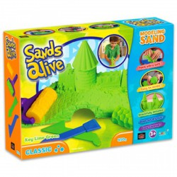 Sands Alive klasszikus készlet - zöld - Sands Alive készletek - MOON DOUGH gyurma Sands Alive