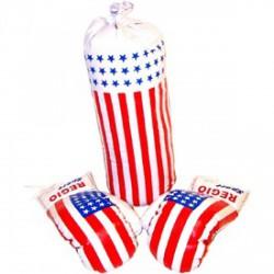 Amerikai zászló mintás bokszkészlet - Sportfelszerelés - Sportfelszerelés