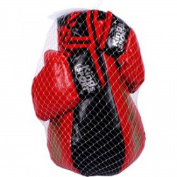 Bokszkészlet - piros-fekete, 43 cm - Sportfelszerelés - Sportfelszerelés