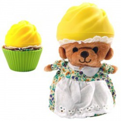 Cupcake Bears - Illatos sütimaci többféle színben és illatban - Cupcake - Sütibabák és fagyikehely babák