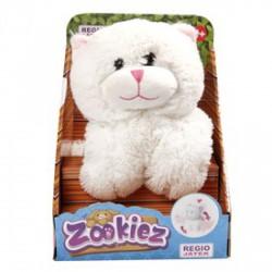 Zookiez cica plüssfigura - fehér, 30 cm - Plüss és állat,-mesefigurák