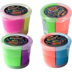 Putty pattogó gyurma tégelyben - neon, többféle színben - Putty intelligens gyurmák - Gyurmák Putty
