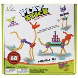 Play Stick rudak 68 darabos építőjáték - PLAY STICK építőjátékok - Építőjátékok Play Stick