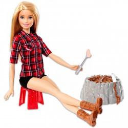 Barbie baba a tábortűz mellett - Barbie babák - Barbie babák Barbie