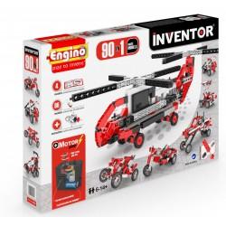 Engino Inventor 90 az 1-ben építőjáték - Motorizált multi modellek - ENGINO építőjátékok - Építőjátékok Engino