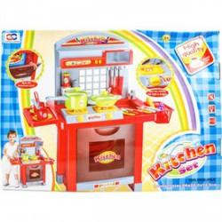 Játékkonyha fénnyel és hanggal - piros, 75 cm - Konyhák - Konyhák