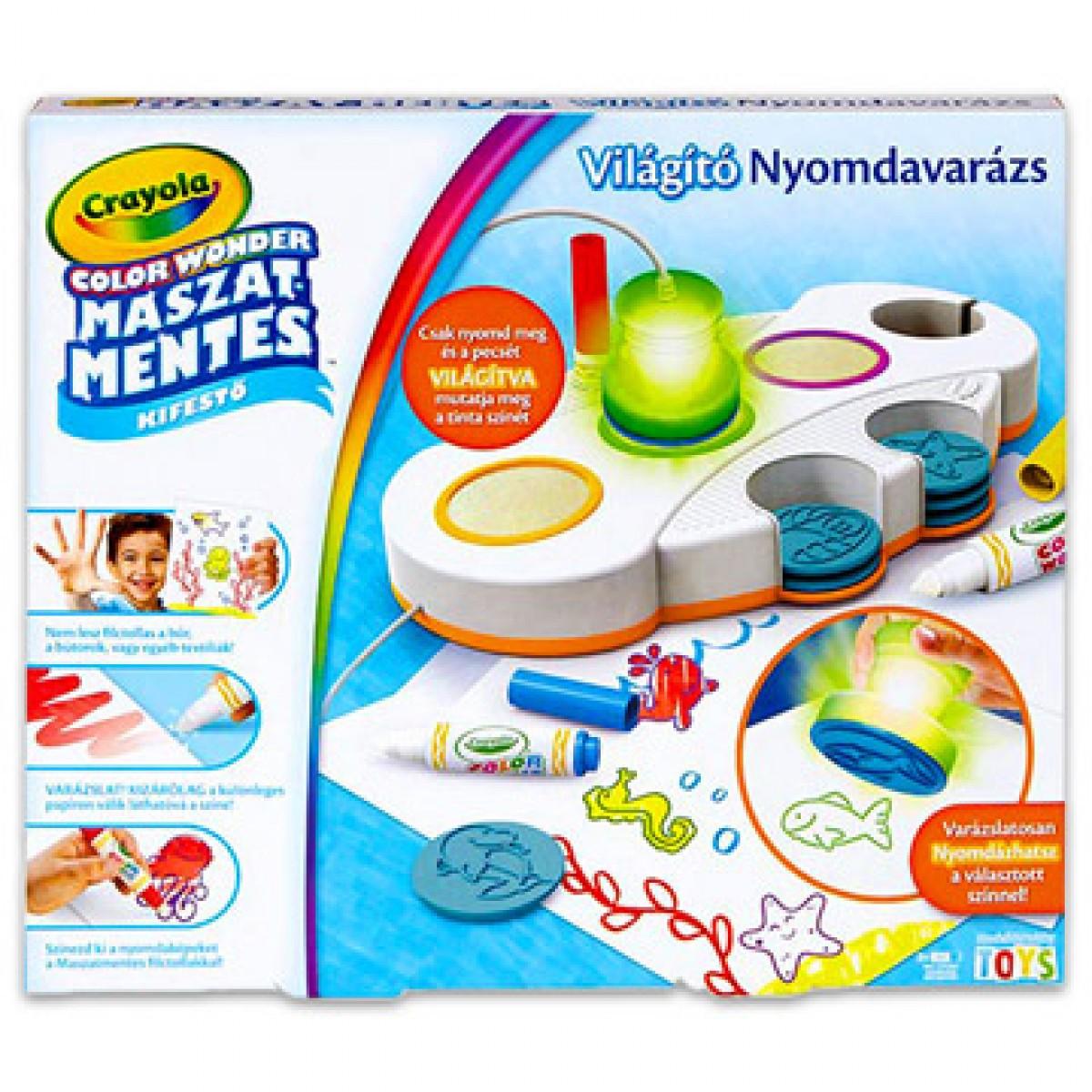 c095446c5a Crayola világító nyomdavarázs - CRAYOLA kreatív játékok - - CRAYOLA ...