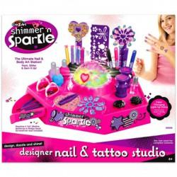 Cra-Z-Art Szuper Divat köröm és tetováló stúdió - Cra-Z-Art lányos játékok - Cra-Z-Art lányos játékok Cra-Z-Art